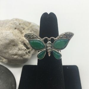 Size 5 Sterling Silver Butterfly Ring